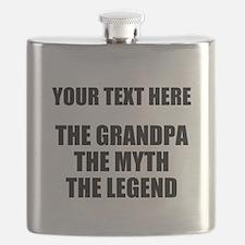Custom Grandpa Myth Legend Flask