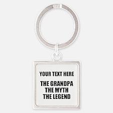 Custom Grandpa Myth Legend Square Keychain