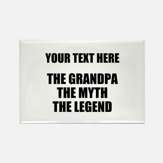 Custom Grandpa Myth Legend Rectangle Magnet