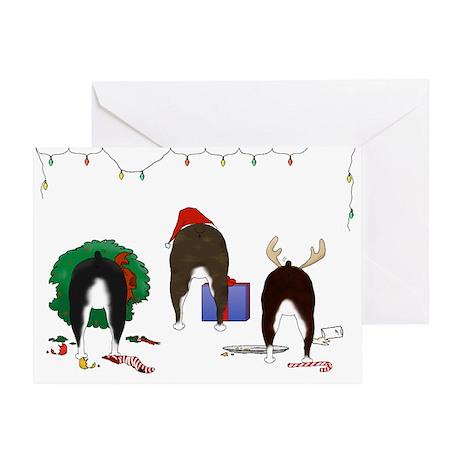 Boston Terrier Christmas Greeting Card