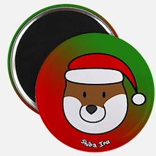 Cartoon Shiba Inu Christmas Magnet
