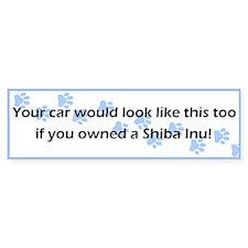 Your Car Shiba Inu Bumper Bumper Sticker