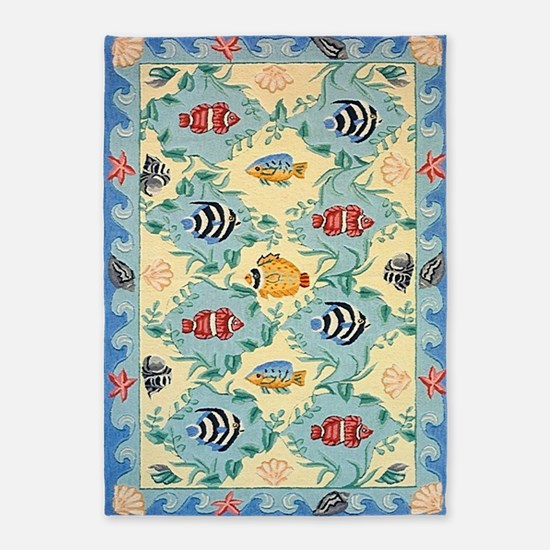 Tropical Fish 5'x7'area Rug