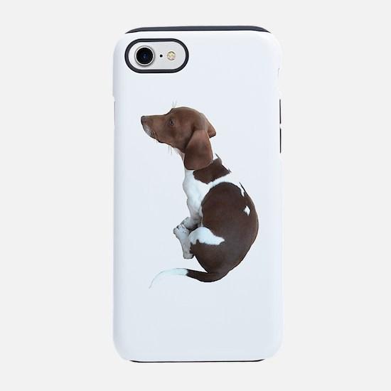 Sad Faced Weenie Dog iPhone 8/7 Tough Case