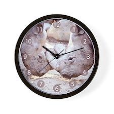 Rhino Love Wall Clock