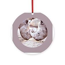 Rhino Love Ornament (Round)