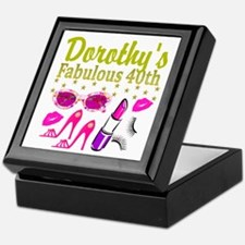 CUSTOM 40TH Keepsake Box