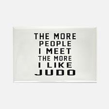 I Like More Judo Rectangle Magnet