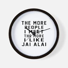 I Like More Jai Alai Wall Clock