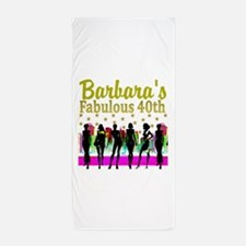 CUSTOM 40TH Beach Towel