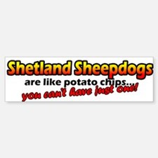 Potato Chips Shetland Sheepdog Bumper Bumper Bumper Sticker