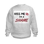 Kiss Me I'm a SHAME Kids Sweatshirt