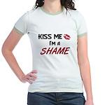 Kiss Me I'm a SHAME Jr. Ringer T-Shirt