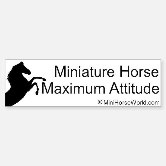 Miniature Horse Maximum Attitude Bumper Bumper Bumper Sticker