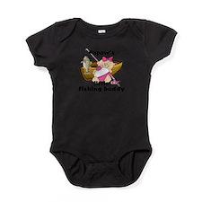 Cute Grandpas fishing buddy Baby Bodysuit