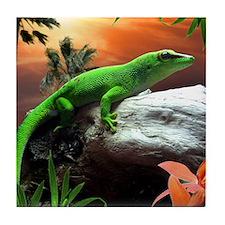 Gecko Lizard Tile Coaster