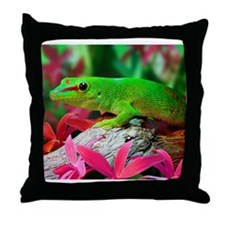 Gecko Lizard Throw Pillow