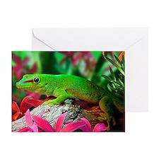 Gecko Lizard Greeting Card