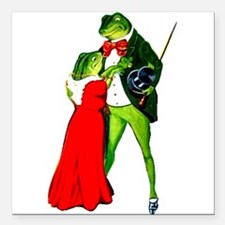 """Frog Lovers Square Car Magnet 3"""" x 3"""""""