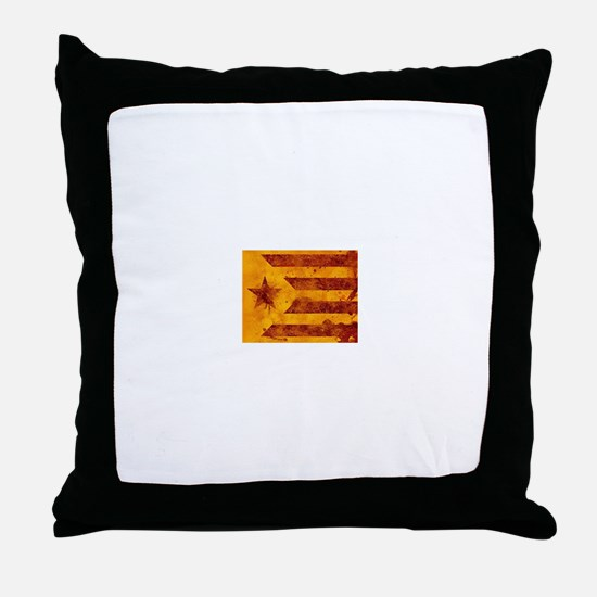The Estelada - Catalan independentist Throw Pillow
