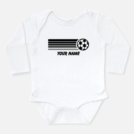 Soccer Personalized Long Sleeve Infant Bodysuit