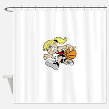BASKET GIRL Shower Curtain