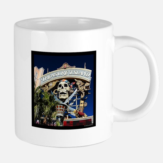 Treasure Island Sign Mugs