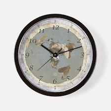 Small Flat Earth Wall Clock