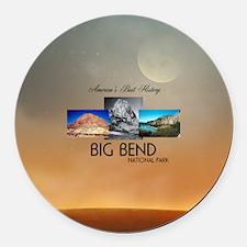 Abh Big Bend Round Car Magnet