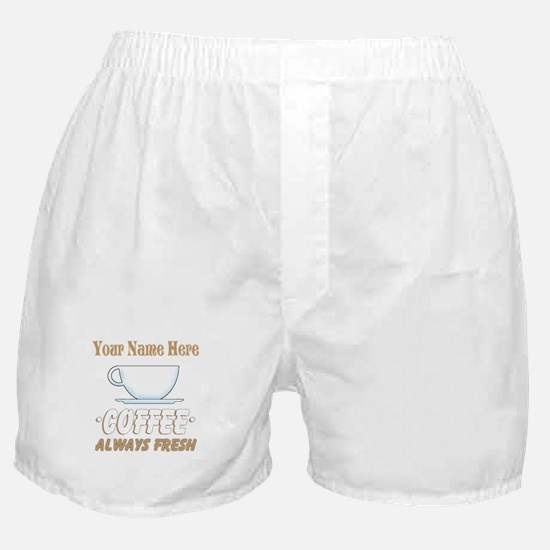 Custom Coffee Shop Boxer Shorts