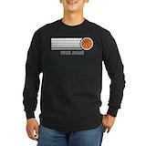 Basketball Long Sleeve Dark T-Shirts