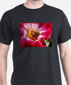 Bee and Pink Rose T-Shirt
