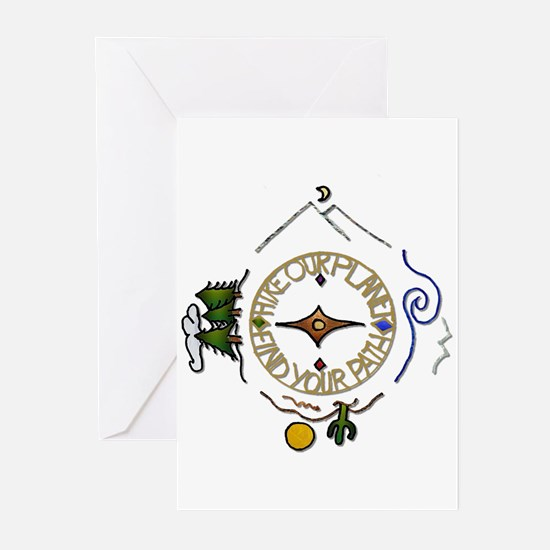 Hiker's Soul Compass Greeting Cards