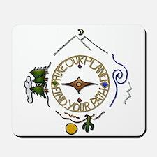 Hiker's Soul Compass Mousepad