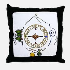 Hiker's Soul Compass Throw Pillow