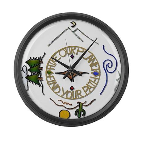 hiker 39 s soul compass large wall clock by leehillerdesigns