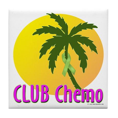 Club Chemo-Lymphoma Tile Coaster