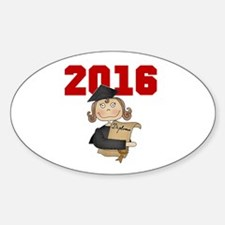 Red Girl Grad 2016 Decal