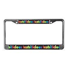 Lesbilicious License Plate Frame