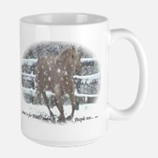 Snow Pony, a Palomino lovers Mug