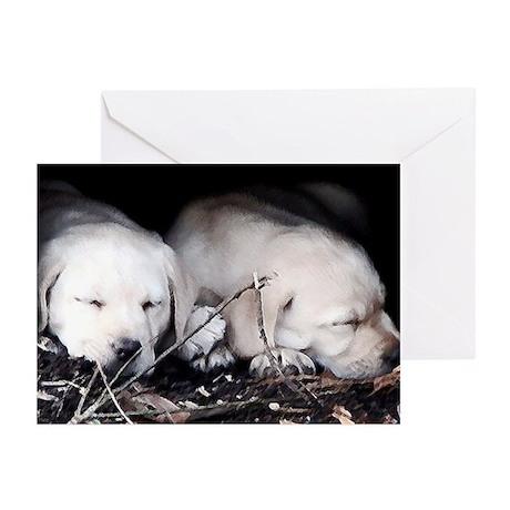 Yellow Labrador Puppies Greeting Cards (Pk of 10)