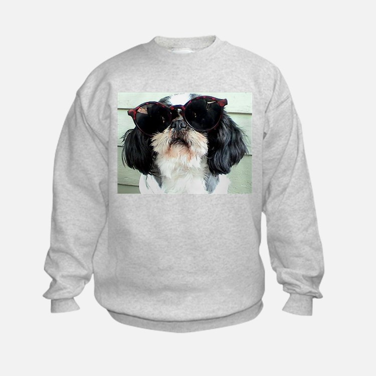 Funny Shih Tzu puppy kids Sweatshirt elpace