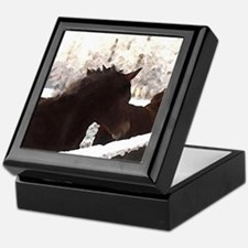 Horse Gifts Holiday Keepsake Box, pony lover gifts
