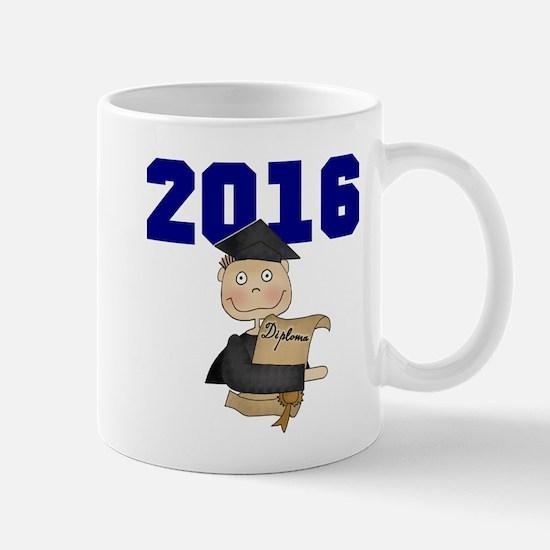 Blue Male Grad 2016 Mug