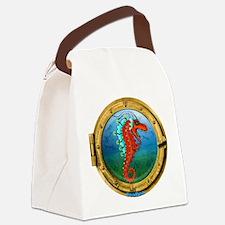 Funny Tyrannosaurus rex Canvas Lunch Bag