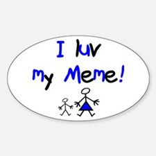 Meme Oval Bumper Stickers