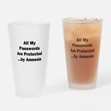 All My Passwords Are Protected Drinking Glass