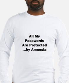 All My Passwords Are Protected Long Sleeve T-Shirt