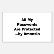 All My Passwords Are Protected Decal