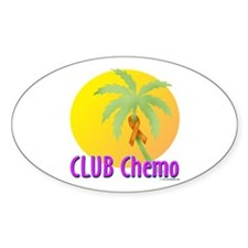 Club Chemo-Leukemia Oval Decal